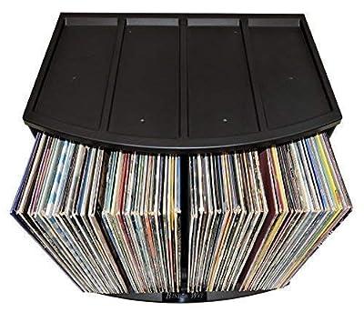 12x12 Paper Storage Ring Binder Lever Arch Rack Scrapbook Photo Album Holder Desktop Organizer LP Vinyl Record Storage Crate Display Stand Book Shelf Cube Box Case