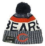 chicago bears sideline - New Era Chicago Bears Knit Beanie Cap Hat NFL 2017 On Field Sideline 11460404