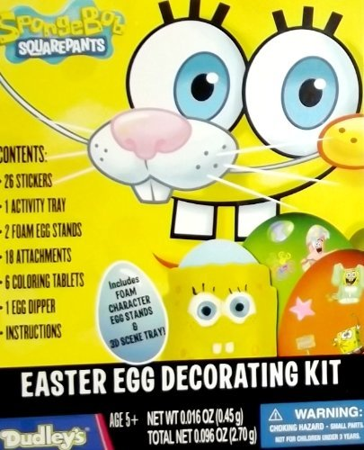 Amazon.com: Bob Esponja Kit de decoración de huevo de Pascua ...