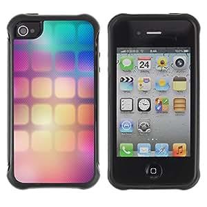 Suave TPU GEL Carcasa Funda Silicona Blando Estuche Caso de protección (para) Apple Iphone 4 / 4S / CECELL Phone case / / Pattern Wallpaper Squares Gradient Color /