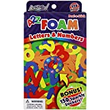 ArtSkills A2Z Foam Letters and Numbers, 228-Piece, 150 Sparkly Stickers (Pa-1313)