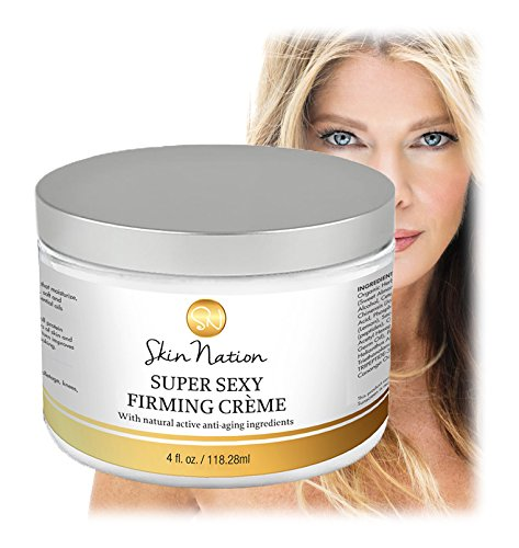 Super Sexy Firming Cream Body Lotion - To Firm, Tighten & Tone Skin - Neck, Breast, Decolletage, Legs - Intense Anti Aging & Moisturizing - Shea Butter and Jojoba Oil. ()