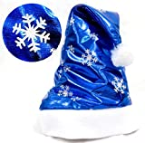 DKmagic Christmas Hot Sale! 1PC Christmas Party Santa Hat Cap for Santa Claus Costume (blue)