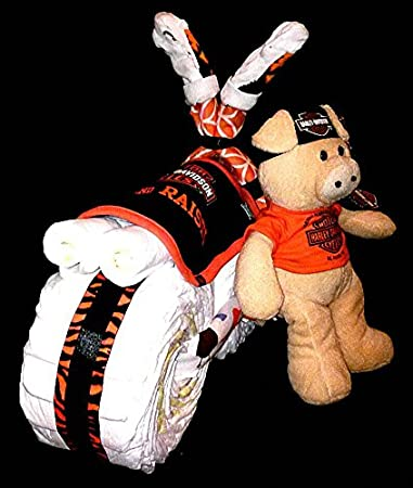 Boy Harley Davidson Diaper Cake Motorcycle For Baby Shower Centerpiece Or  Gift By Little Kgu0027s Dreams