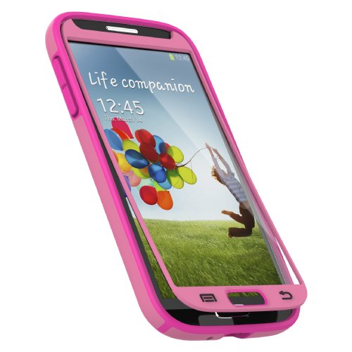 Speck Products CandyShell Plus FACEPLATE Case for Samsung Galaxy S4 - Flamingo Pink/Shocking Pink (Speck Candyshell S4 Case)