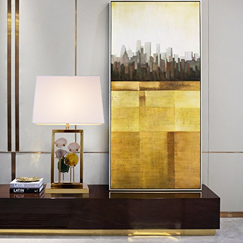 Side Table Lamp Brlighitng Unique Designed Room Lamp in Luxury Agate Pieces Gold Base for Bedside Lamp Living Room Office Decor by BRLIGHTING (Image #5)