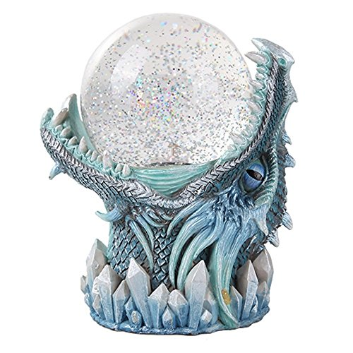 Frost Ice Dragon StormBall Iceburg Statue Sound Activated Gliter Sparkle (Dragon Keepsake)