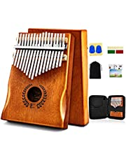 Kalimba Thumb Piano 17 Keys, Portable Mbira Finger Piano w/Protective Case, Fast to Learn Songbook, Tuning Hammer, All in One Kit photo