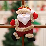 OldSch001 Christmas Ornaments Gift Santa Claus Snowman Reindeer Toy Doll Hanging Decorations (2PCS-A)
