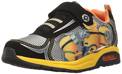 Despicable Me Boys' Minion Made Athletic Sneaker, Black, 12 Child US Toddler (Despicable Me Shoes)