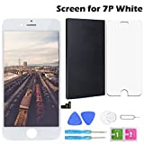 Screen Replacement for iPhone 7Plus White 5.5 Inch LCD Display Touch Screen Digitizer Replacement with Repair Kit and Screen Protector (7Plus-White)