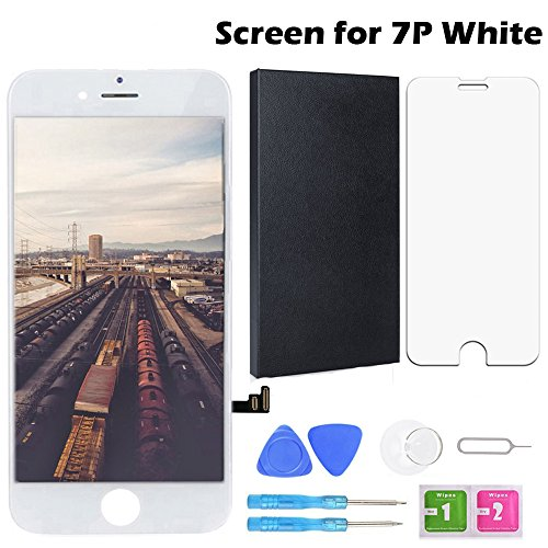 Screen Replacement for iPhone 7Plus White 5.5 Inch LCD Display Touch Screen Digitizer Replacement with Repair Kit and Screen Protector (7Plus-White) by Fontecho