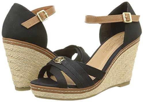 sur des pieds à dernière conception couleur attrayante Tom Tailor Women's 9690813 Sandals Black Size: 3 UK: Amazon ...