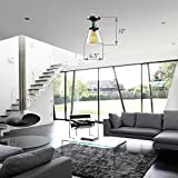 SereneLife Home Lighting Fixture - 6.5'' x 6.0''' Dome Shaped Sculpted Glass Lamp Shade Compact Ceiling Light Accent, Semi Flush Mount with ETL Rated Single Screw-in Bulb Socket (SLLMP3106)