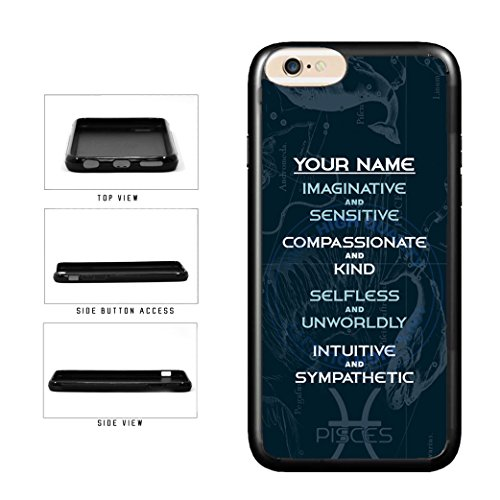 BleuReign(TM) Personalized Zodiac Sign Custom Name Pisces Feb20-Mar20 TPU RUBBER SILICONE Phone Case Back Cover For Apple iPhone 8 Plus and iPhone 7 Plus
