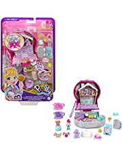 Polly Pocket Candy Cutie Gumball Compact, Gumball Theme with Micro Polly & Margot Dolls, 5 Reveals & 13 Related Accessories, Pop & Swap Feature, Great Gift for Ages 4 Years Old & Up