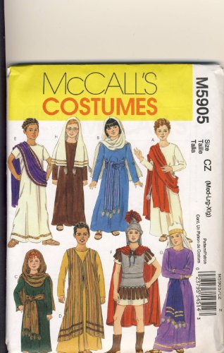 McCall Sewing Pattern 5905 - Use to Make - Boys' and Girls' Biblical Costumes - 8 Designs - Sizes M, L, XL