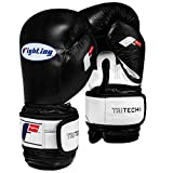 Title Boxing Fighting Sports Tri-Tech Weighted Bag Gloves, Black/White, Regular