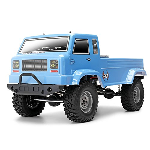 Electric Kit Buggy 4wd (RGT RC Trucks 1/10 Scale Monster Truck Electric 4WD Off Road 2.4Ghz Rock Crawler RC-4 Climbing RC Buggy with Battery (Blue))