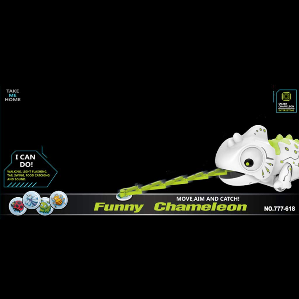Creazy Smart Chameleon Robotic Can Eat Things Function Cute Toy Electronic Pets by CreazyDog toy (Image #6)
