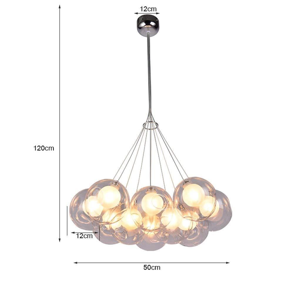 villa scala a pi/ù colori scala a chiocciola arte creativa colore : C-2 luce bolla A+ LED Lampadari Lampadario a sfera in vetro ristorante soggiorno