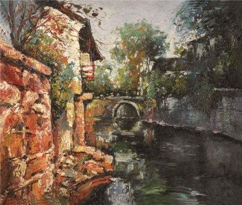 high-quality-polyster-canvas-the-replica-art-decorativeprints-on-canvas-of-oil-painting-a-river-land