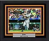 """Marlins Ichiro Suzuki 3000th Hit 8"""" x 10"""" Framed and Matted Baseball Photo"""