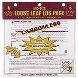J.J. Keller - Duplicate Mid-Size Loose-Leaf Driver's Log, Carbonless-pack of 48