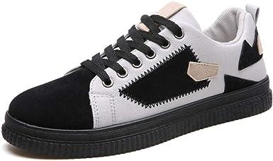 GERUIQI - Zapatillas de running de Papel para hombre Negro y gris. 8: Amazon.es: Ropa y accesorios