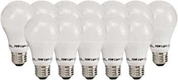 12-Pk. FDW 60W Equivalent SlimStyle A19 3000K LED Light Bulb