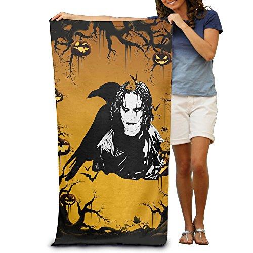 KINDO The Crow Fantasy Revenge Story Beach Towel Bath Washcloth For Adults / 31.5'' (Fantasy Custom Costumes Co)