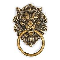 """CBH Golden Hair Lion Brass Door Gate Pull Hardware 4"""""""