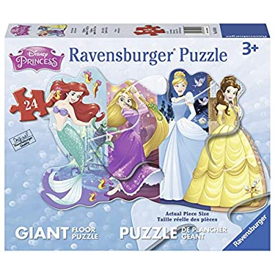 Ravensburger Disney Princess Pretty Princesses Shaped Floor Puzzle 24 Piece Jigsaw Puzzle for Kids – Every Piece is Unique, Pieces Fit Together Perfectly: Toys & Games