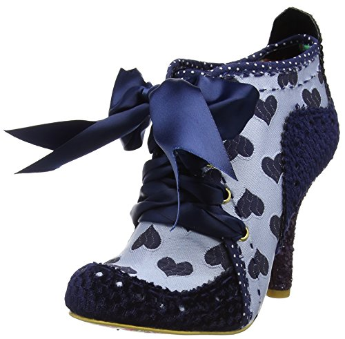 Irregular Choice Women's Abigail's Third Party Boots Blue (Blue/Grey) uad09L