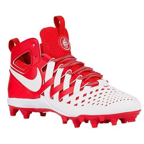 NIKE Mens Huarache V Lax Challenge Red/White White Cleated Shoe 10.5 Men US