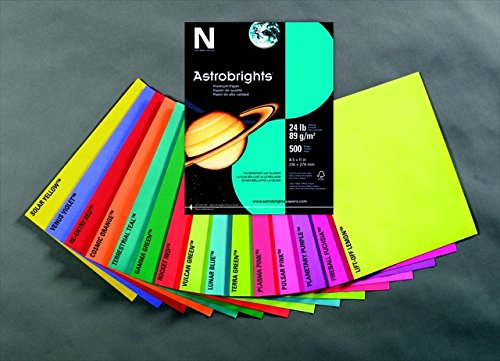 Astrobrights 075827 Acid-Free Copy Paper44; Lift Off Lemon by Astrobrights