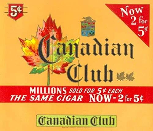Vintage Unused Canadian Club Cigar Box Label