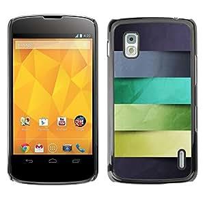 Be Good Phone Accessory // Dura Cáscara cubierta Protectora Caso Carcasa Funda de Protección para LG Google Nexus 4 E960 // Monotone Stripes Pattern Pastel