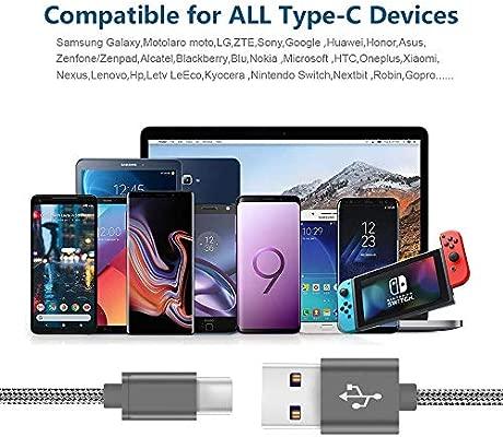 5A Cable Dash USB C carga rápida para Oneplus 6/5/5T/3/3T,Xiaomi MI A1/A2/5/6/8/F1,Mix 2/2s,Max 3,LG G5 G6 G7 Thinq,BQ aquaris X/PRO,Sony Xperia XA1 ...