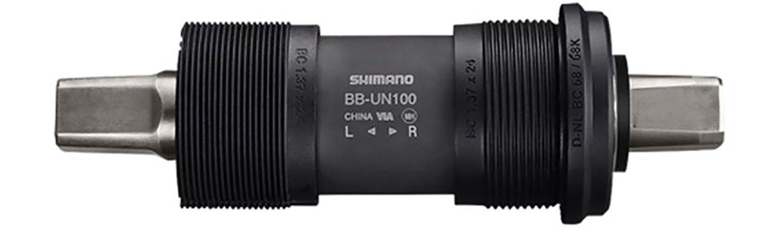 Black SHIMANO BB-UN100 Square BSA One Size
