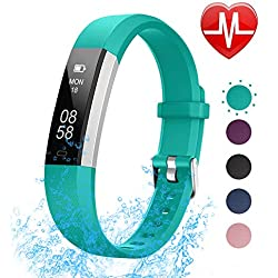 LETSCOM Fitness Tracker with Heart Rate Monitor, Slim Sports Activity Tracker Watch, Waterproof Pedometer Watch with Sleep Monitor, Step Tracker for Kids, Women, and Men