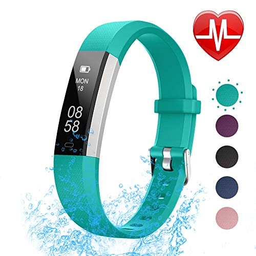 LETSCOM Fitness Tracker with Heart Rate Monitor, Slim Sports Activity Tracker Watch, Waterproof Pedometer Watch with Sleep Monitor, Step Tracker for Kids, Women, and Men (Best Cheap Fitness Tracker)
