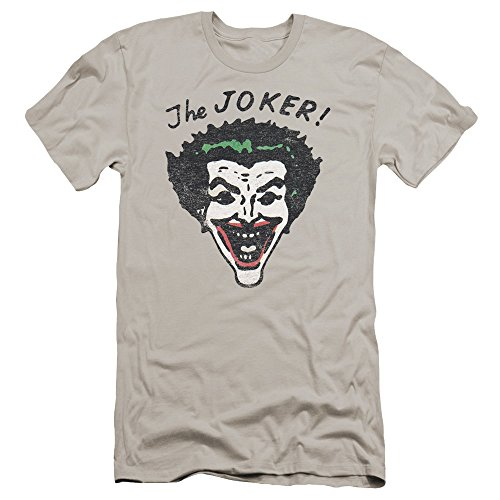Batman+Retro+Shirts Products : Batman Retro Joker Mens Premium Slim Fit Shirt