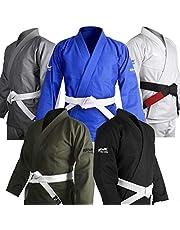 Kimonos de Uniforme brasileño Jiu Jitsu Gi BJJ, Ultra Ligero, Preencogido, cinturón Blanco última intervensión. !