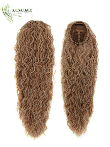 Long Ponytail Extension Hairpiece CARMA WAVY/CURLY Hair 15.5-20