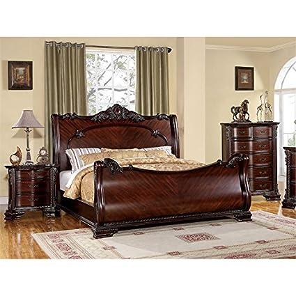 Amazon.com: Furniture of America Wilshire 3 Piece California King ...