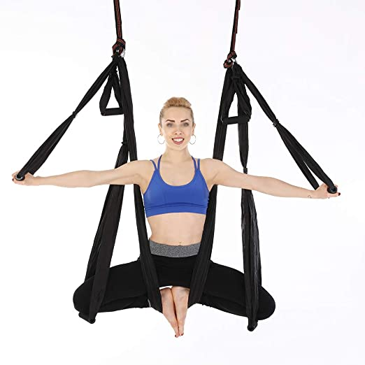 Hamaca de Yoga Tafetán de Nailon Antigravedad Swing Sling ...