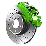 G2 High Temperature High Gloss Self Leveling Brush On Lime Green Brake Caliper Paint System Kit
