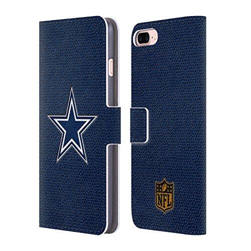 Price comparison product image Official NFL Football Dallas Cowboys Logo Leather Book Wallet Case Cover For Apple iPhone 7 Plus / 8 Plus