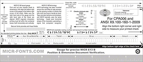 Review MICR Check Position Gauge